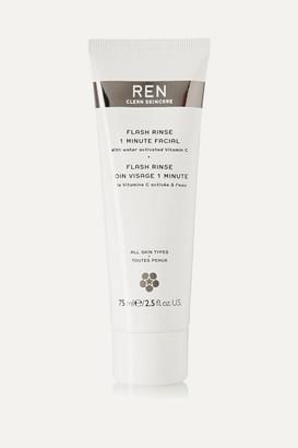 Ren Skincare Flash Rinse 1 Minute Facial, 75ml - Colorless