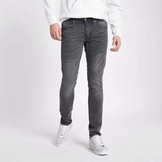 River Island Grey Sid skinny fit jeans