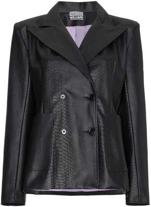Ashley Williams Double breasted faux leather blazer