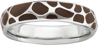 JCPenney FINE JEWELRY Personally Stackable Sterling Silver Giraffe Print Enamel Stackable Ring