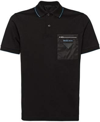 Prada zipped pocket polo shirt