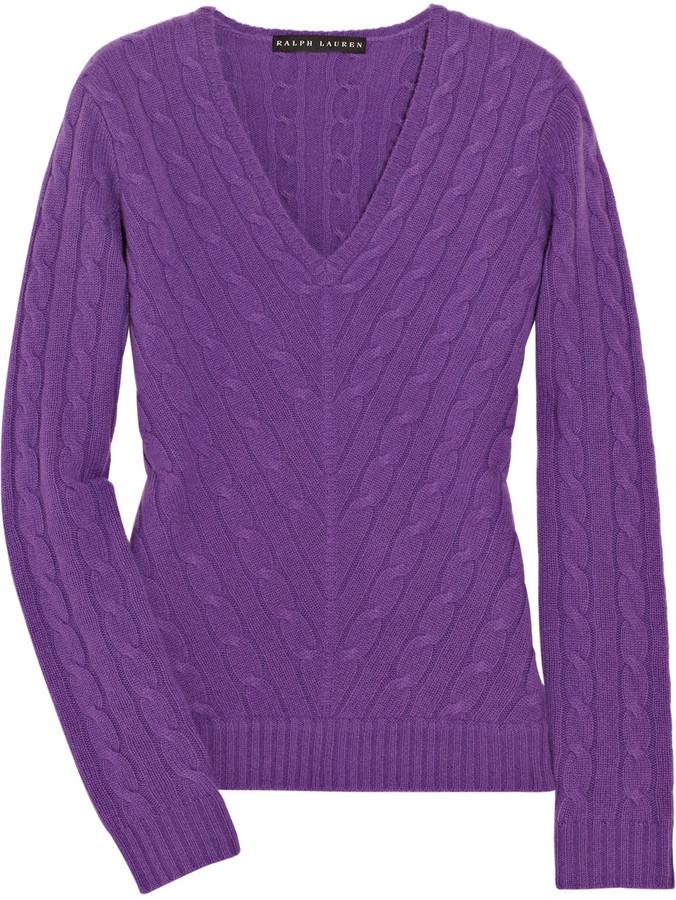 Ralph Lauren Black Label Cable-knit cashmere sweater