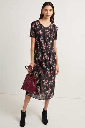 French Connenction Florence Printed Plisse Jersey Midi Dress