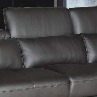 AC Pacific Ron Leather Reclining Sectional Orientation: Left