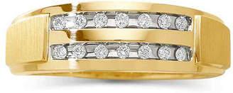 MODERN BRIDE Mens 1/5 CT. T.W. Diamond 2-Row Wedding Band