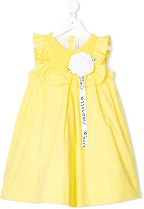 Simonetta floral appliqué dress