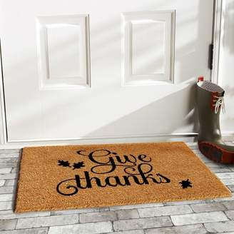 Andover Mills Lofton Give Thanks Doormat