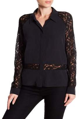 Go Silk Go by Go Lacy On Me Silk Blend Blouse