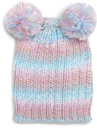 Tucker + Tate Double Pompom Chunky Knit Beanie