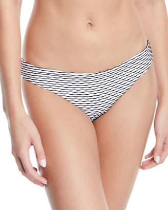 Onia Lily Wave-Stripe Hipster Bikini Bottom
