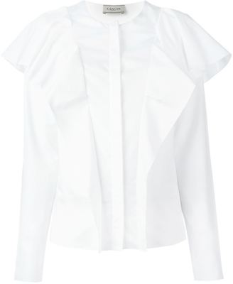 Lanvin long sleeved ruffle blouse $1,220 thestylecure.com