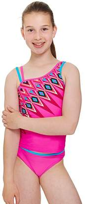 Zoggs Girls Crazy Retro Tankini Set