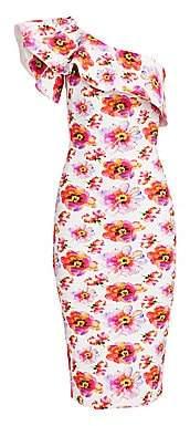 Chiara Boni Women's Elisse Print Ruffle Cocktail Dress