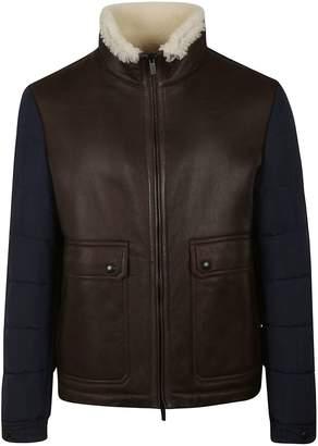 Tod's Fur Trim Leather Jacket