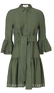 Derek Lam 10 Crosby Grommet Hem Flounced Shirtdress $595 thestylecure.com