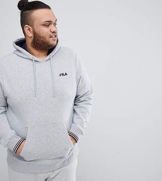 Fila Vintage Hoodie With Small Script In Gray