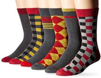 Ben Sherman Men's 6 Pack Phillip Crew Socks