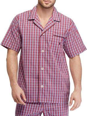 Ralph Lauren Plaid Cotton Pajama Shirt