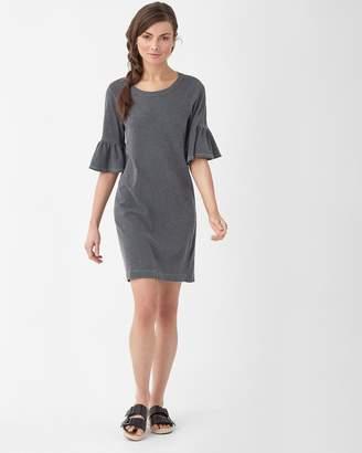 Splendid Heavy Slub Ruffle Sleeve Dress