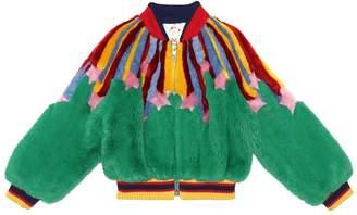 Gucci Kids Faux fur bomber jacket