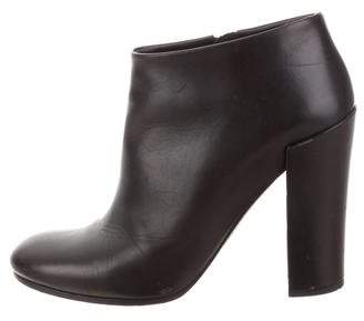 Proenza Schouler Leather Round-Toe Booties