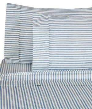 Melange Home 400 Thread Count Cotton Bamboo Stripe 4-Piece Sheet Set