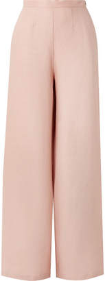 Miguelina Pamela Linen Wide-leg Pants - Pink