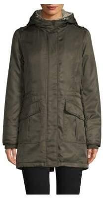 London Fog Faux Fur Sherpa Lined Anorak Jacket