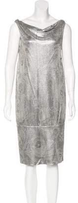 Diane von Furstenberg Metallic Knee-Length Dress