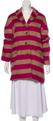 RED Valentino Short Striped Coat