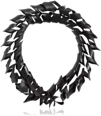 Spiral Faux Leather Necklace