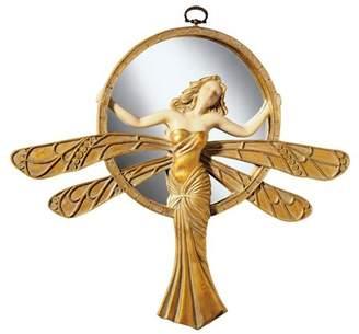 Toscano Design Dragonfly Art Deco Wall Mirror