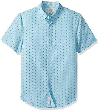 Original Penguin Men's Short Sleeve Flamingo Printed Shirt