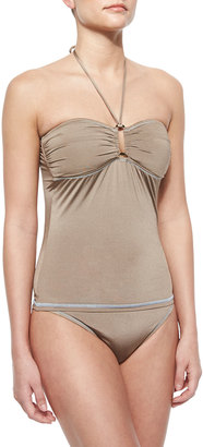Letarte Classic Stretch-Nylon Swim Bottom, Coconut Husk $32 thestylecure.com