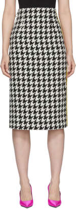 Off-White Off White Black and White Houndstooth Longuette Skirt