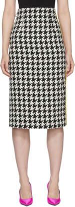 Off-White Black and White Houndstooth Longuette Skirt