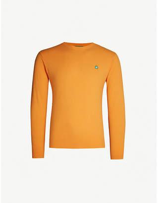 Benetton Unisex logo-embroidered wool-blend jumper