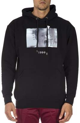 Throw Back Black Cotton Sweatshirt