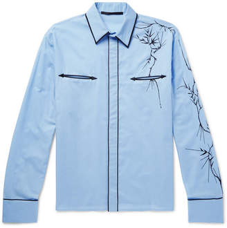 Haider Ackermann Embroidered Cotton Western Shirt
