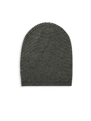 Saks Fifth Avenue Striped Cashmere Beanie