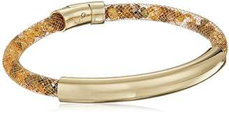 Kenneth Cole New York Shiny Gold Items Gold Bar with Mesh Tube Bracelet