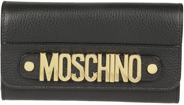 MoschinoMoschino Logo Plaque Continental Wallet