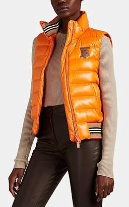 Burberry Women's Down-Quilted Puffer Jacket - Orange
