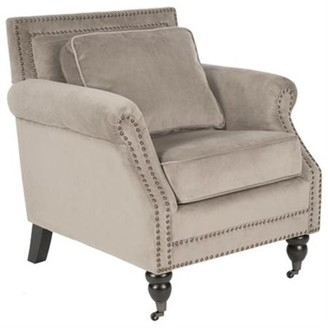 Safavieh Karsen Traditional Rustic Upholstered Club Chair with Casters