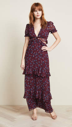 WAYF Lavina Cutout Maxi Dress