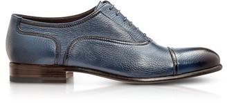 Moreschi Nice Blue Deerskin Oxford Shoes