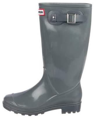 Hunter Rubber Rain Boots Grey Rubber Rain Boots