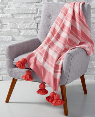 Martha Stewart Collection CLOSEOUT! Tassel Throw, Created for Macy's