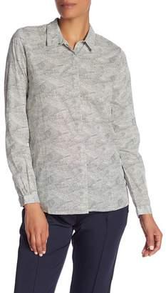 Scotch & Soda Swirling Dot Button Front Shirt