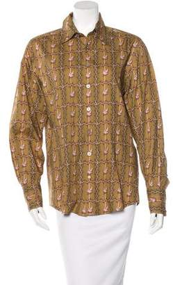 Robert Graham Printed Button-Up Top $70 thestylecure.com